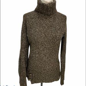 Lole Mohair Blend Turtleneck Sweater Medium